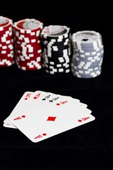 Free Poker Cards And Chips Stock Photography - 19173332