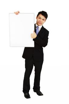 Free Businessman With Whiteboard Stock Image - 19173671