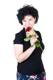 Free Woman With Rose Royalty Free Stock Image - 19173906