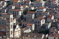 Free Hvar, Croatia Rooftops And Church Royalty Free Stock Photography - 19174397