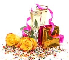 Free Wine And Roses Stock Image - 19174981