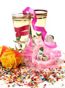 Free Wine And Roses Stock Photos - 19175003
