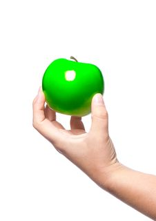 Free A Fresh Green Apple Stock Photography - 19175052