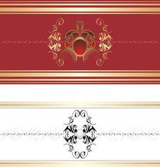 Free Two Decorative Retro Borders Stock Image - 19175311