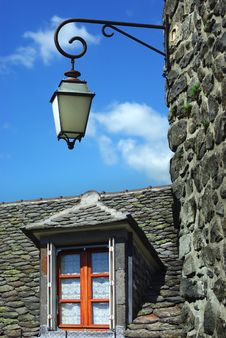 Free Old Traditional French House With Lantern.Salers Stock Photos - 19175363