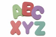 ABC XYZ Foam Alphabet Royalty Free Stock Photo