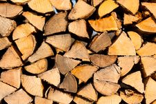 Free Firewood Background Royalty Free Stock Photography - 19176017