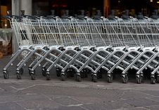 Free Shopping Carts Royalty Free Stock Photo - 19176025