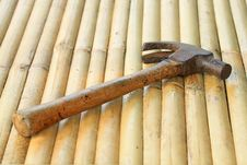 Free Hammer On Background Bamboo Stock Images - 19176144