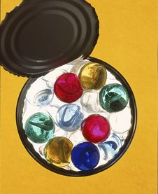 Free Can Of Marbles Stock Photos - 19176193
