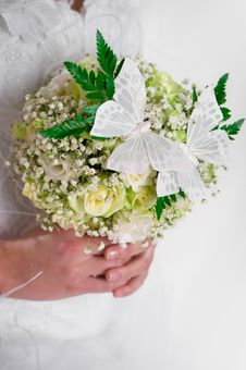 Free Beautiful Bridal Bouquet Royalty Free Stock Photography - 19176467