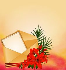 Free Invitation With Flowers Royalty Free Stock Photo - 19177005