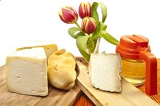 Free Cheese And Honey Stock Photography - 19177052