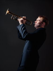 Free Trumpet Player Stock Photo - 19177480