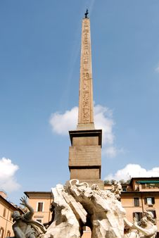 Navona S Obelisk Royalty Free Stock Images