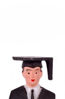 Male Graduate Figurine Royalty Free Stock Photography