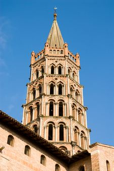 Free Bell Tower Of St Sernin Basilica In Toulouse Royalty Free Stock Photo - 19179035