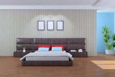 Free Modern Bedroom Royalty Free Stock Photos - 19179428