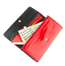 Open Red Clutch
