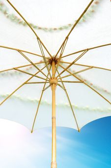 Free Umbrella On A Sky Background Stock Image - 19179681