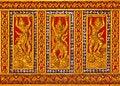 Free Titan Pattern Design Handcraft On Wood Stock Image - 19187111