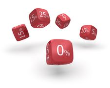 Free Discount Dice Royalty Free Stock Photography - 19180317