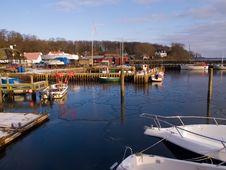 Yachts And Sail Boats In A Marina Royalty Free Stock Photography