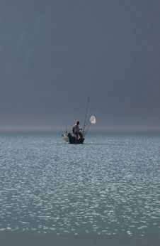 Free Fishing In The Mist Royalty Free Stock Images - 19180489