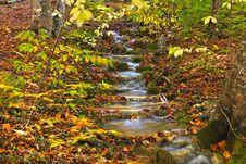Free Autumn Mountain Cascade Royalty Free Stock Photos - 19180578