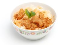 Sweet And Sour Pork Rice Stock Image
