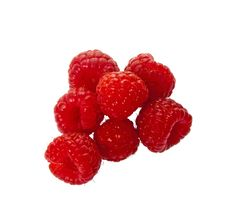 Free Fresh Raspberries Isolated Over White Royalty Free Stock Images - 19180829