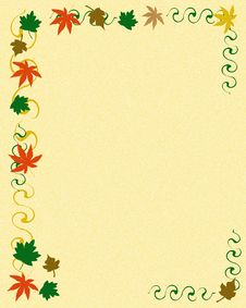 Free Autumn Leaf Frame Royalty Free Stock Photography - 19181187