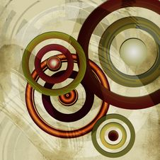 Vintage Circles Background Stock Image