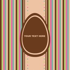 Free Cute Easter Card Royalty Free Stock Photos - 19181648