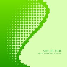 Free Green Half-tone Background. Royalty Free Stock Image - 19182116