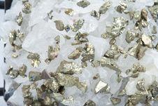 Free Quartz With Pyrite Royalty Free Stock Photo - 19182145