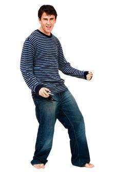 Free Happy Man Dancing Stock Photo - 19182340