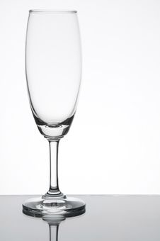 Empty Champagne Glass Stock Image