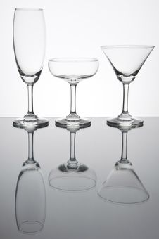 Free Empty Glass With Reflection Royalty Free Stock Photos - 19182518