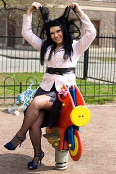 Free Girl On Playground Royalty Free Stock Photo - 19182715
