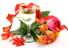 Free Wine And Roses Stock Images - 19182844