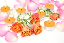 Free Candles And Roses Royalty Free Stock Image - 19182986