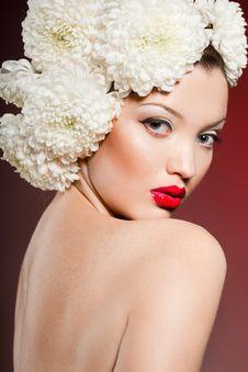 Portrait Of Sweet Woman Stock Image