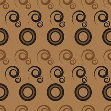 Free Abstract Pattern With Circles And Curls Stock Photos - 19183683