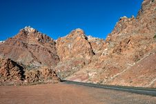 Road In The Rocks In Arizona Royalty Free Stock Images