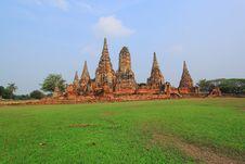 Free Wat Chai Watthanaram, Ayutthaya Royalty Free Stock Image - 19184766