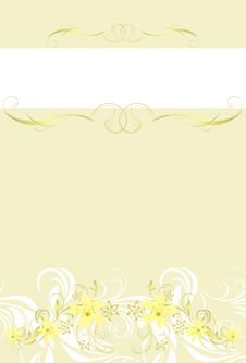 Free Decorative Floral Background For Wrapping Stock Image - 19184901