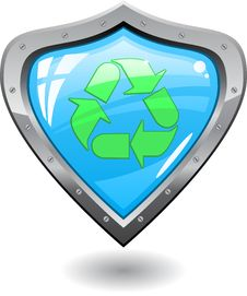 Recycling Shield Stock Image