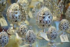 Easter Jewelry Eggs Royalty Free Stock Photo