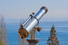 Vintage Observation Telescope Royalty Free Stock Photography